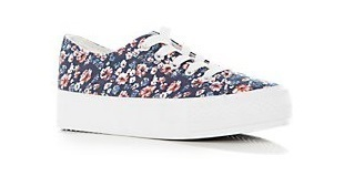 Blue Floral Flatform Plimsolls. No product info available.