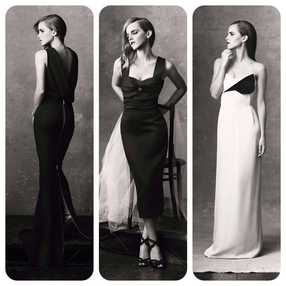 Emma Watson models the NET-A-PORTER.COM & GCC Capsule Collection. (Original photos by Natalie Brewster).