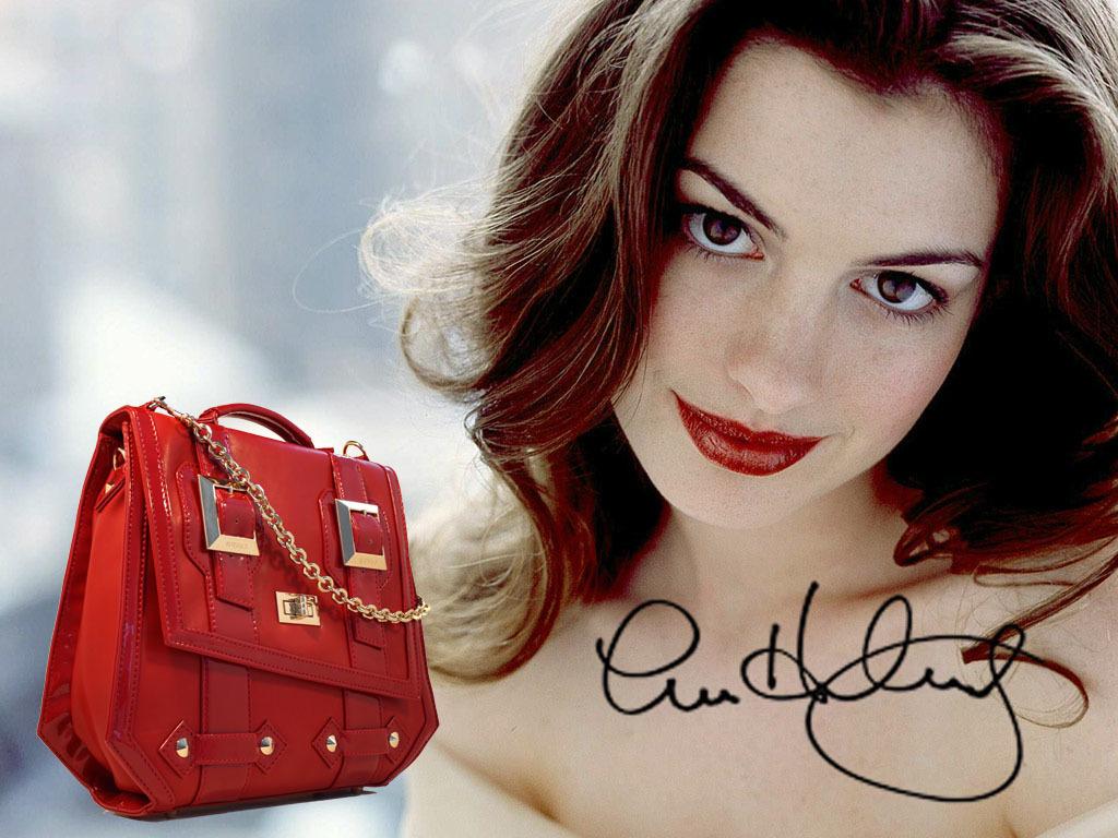 Anne Hathaway with Rockstar Bag!