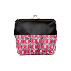 Camilla Clutch Black and Pink