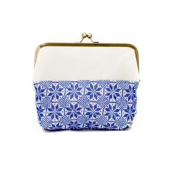 Camilla Clutch Blue and White