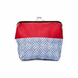 Camilla Clutch Red and Blue