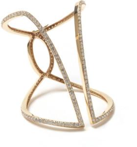 Diamond gold butterfly outline bracelet by Maiyet