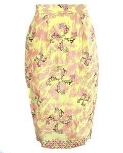 Fair Trade African Print Pencil Skirt by Fair+True
