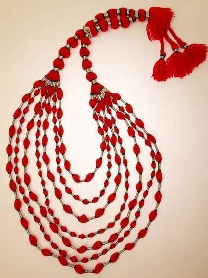 Inaaya Red Sindoor Durri Necklace