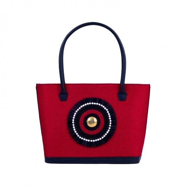 Mara Red Tote Bag