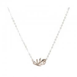 Necklace silver leafedit