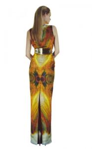 Omega Dress Flame by Eden Diodati (Back)