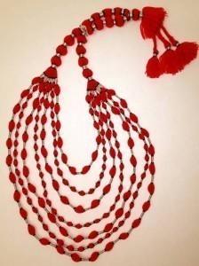 Red Sindoor Durri Necklace By Inaaya