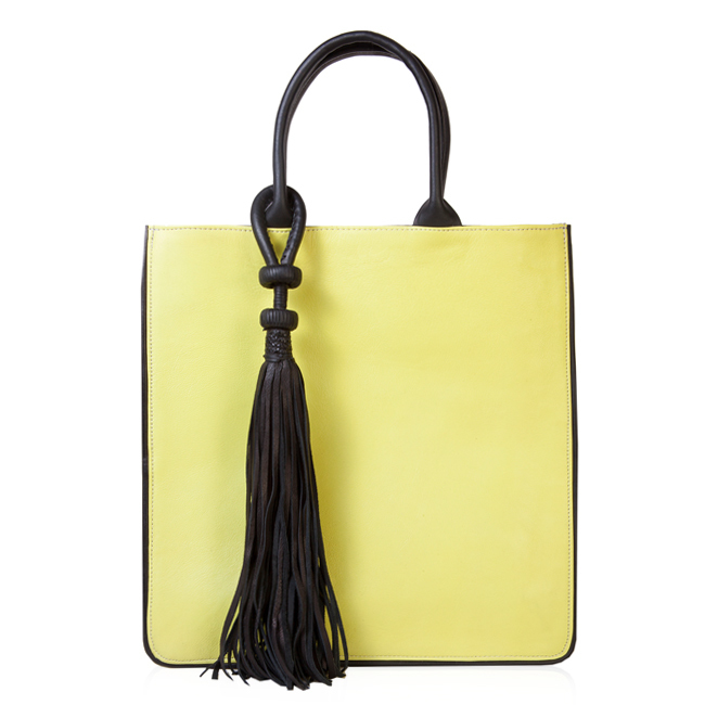 The Neon Yellow Tote By Sahel Design