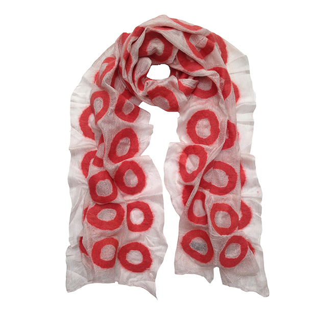 WHITE AND PINK JER SILK SCARF-HERO
