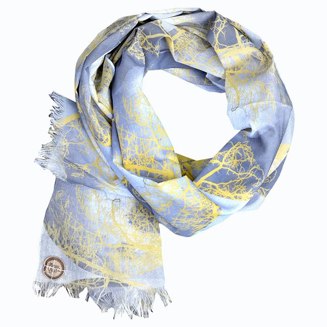 Yellow Moon voile scarf Hero