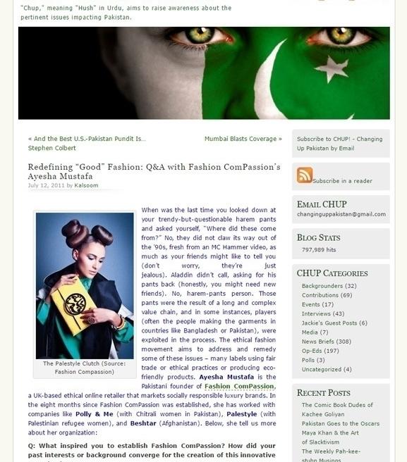 Fashion ComPassion In Press UK And International | Fashion ComPassion