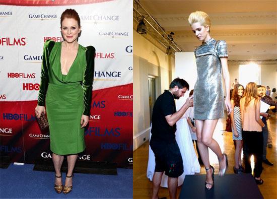"Julianne Moore at ""Game Changer"" Premier & Tom Ford Green Cut Dress"